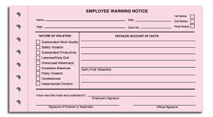 Employee Warning Notices