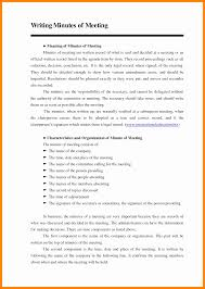 Format For Minutes Writing 6 Format Writing Minutes 952 Limos