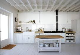 white country kitchen with butcher block. Countertops \u0026 Backsplash White Painted Wooden Cabinet Butcher Block Country Rustic Style Kitchen Design With U