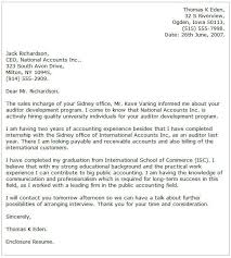 Accounting Cover Letter Examples Cover Letter Now