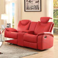 Red Leather Living Room Sets Homelegance Talbot 2 Piece Living Room Set In Red Leather Beyond