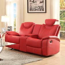 Leather Reclining Living Room Sets Homelegance Talbot 2 Piece Living Room Set In Red Leather Beyond