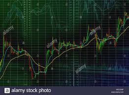 Stock Market Candle Bars Graph Trend Up Abstract Stock