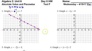day 8 hw test f 1 to 2 graphing linear equations