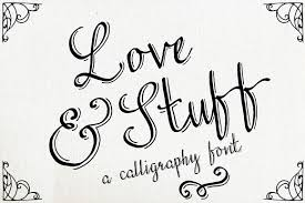 love stuff calligraphy font by the pen brush on creative
