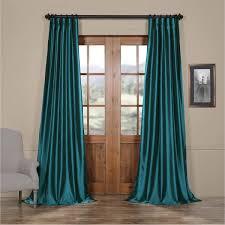 exclusive fabrics solid faux silk taffeta terranean curtain panel