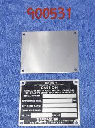 Barton Chart Recorder Dpu Data Plate Tag Plain Itt Barton