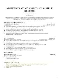 Skills Section Resume Skill Administrative Assistant Example