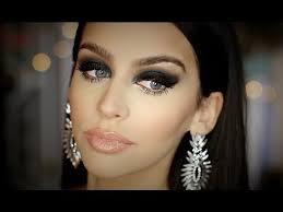 black smokey eye full face makeup tutorial heavy glam