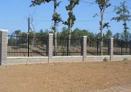 wrought iron fence brick. Wrought Iron Fence With Stone Columns Brick I