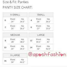Victoria Secret Underwear Size Guide