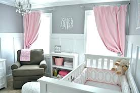 Pink Nursery Curtains Grey And Pink Bedroom Curtains Pink And Grey