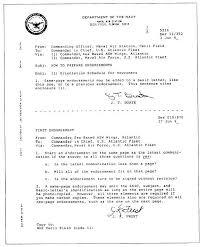 Standard Naval Letter Template Ideal Vistalist Co