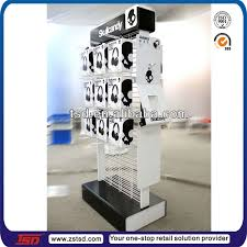 Mobile Phone Case Display Stand Gorgeous TSDM32 Custom Retail Shop Floor Standing Product Hook Metal