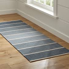 floor runners rugs bold blue wool blend striped dhurrie runner rug 25x7 reviews crate and barrel floor runners rugs