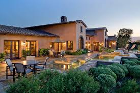 image of tuscan style house plans with courtyard