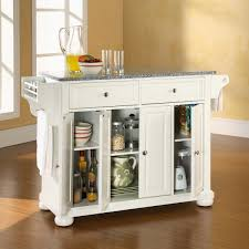 perfect alexandria kitchen island with solid granite top in
