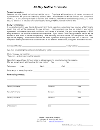 30 day notice to move out letter 30 day moving notice letter duties of a truck driver 40 printable