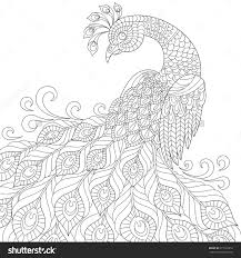 Small Picture Decorative Peacock Adult Anti Stress Coloring Page Black And