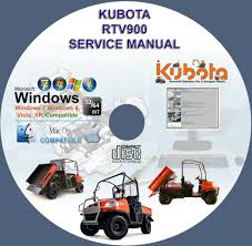 kubota utv rtv service manual rtv on cd kubota utv rtv 900 service manual rtv900 on cd