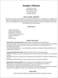 Chemotherapy Nurse Sample Resume Custom Sample Oncology Nurse Resume Tier Brianhenry Co Resume Cover Letter