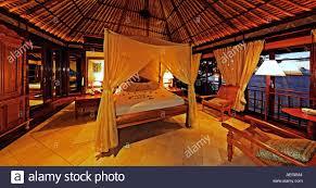 Schlafzimmer Innenraum Des Exklusiven Luxus Villa Fregate Island