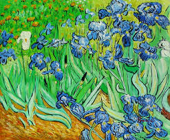 blue irises huge 36 x48 reion by vincent van gogh hand painted oil on