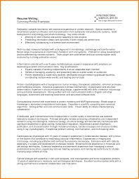 Resume Summary Of Qualifications Resume For Study