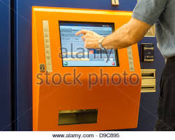 Nj Transit Ticket Vending Machines Amazing Man Purchasing New Jersey Transit Train Tickets At Self Serve