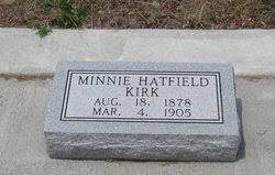 Minnie Hatfield Kirk (1878-1905) - Find A Grave Memorial