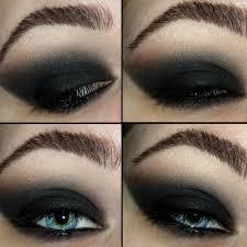 5 shimmery gray black eyes