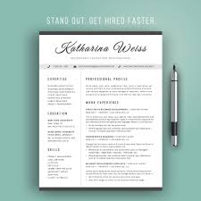 Resume Template Modern Cv Template Instant Download Word