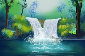 feng shui paintings for office. Feng Shui WaterFall Painting Paintings For Office E