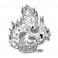 Squirrel Coloring Page Stock Vector Art More Images Of 2015 Istock