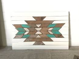 Rustic, Reclaimed Aztec Wall Hanging, Home Decor, Southwestern, Tribal