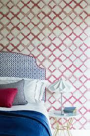 Schlafzimmer Tapeten Geometrisch Frisch Bettkopfteil Blaue Decke