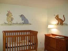 classic pooh nursery themed set up a decorative