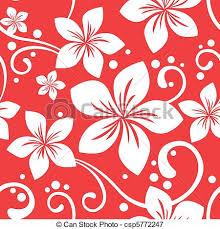 Hawaiian Pattern Custom Seamless Hawaiian Christmas Pattern Illustration Of A Seamless