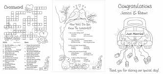 Wedding Goodie Bags New Picture Wedding Coloring Book For Kids At