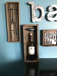 Decorative Display Boxes Rustic Wine Bottle Display Box Decorative Bar Wall Hanging Corks 73