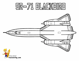 sr 71 blackbird airplane to print at yescoloring