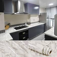 details about white grey countertop vinyl marble granite glossy self adhesive wallpaper