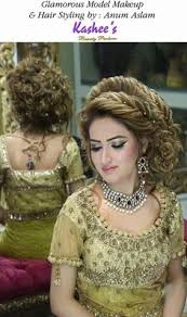 glamorous hair style by anum aslam wedding hairstyles for women bridal makeup looks glam