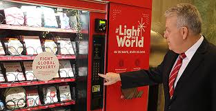 Used Vending Machines Ireland Gorgeous Light The World Vending Machines Offer Chance To Give Instead Of Get