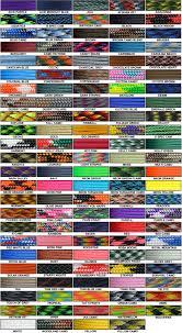 Paracord Planet Color Chart Color Chart Paracordprojects Paracord Bracelets Paracord