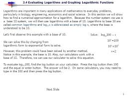 solve logarithmic problems math 1 logarithms are important in many s of mathematics to everyday problems