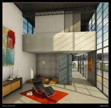 Rendering Of Eames House Interior By Andy Brown ID  Notebook - My house interiors