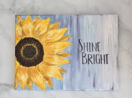 how to paint a sunflower the easy way