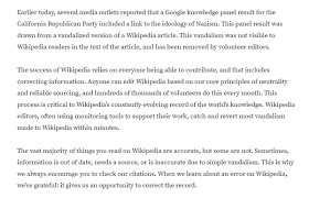 Wikimedia On Twitter A Google Knowledge Panel Result Surfaced