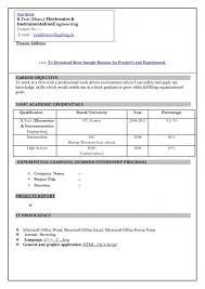 normal resume format for freshers resume template example freshers resume formats